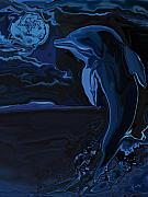 Sea Life Digital Art Originals - Lonely Tonight by Rabi Khan