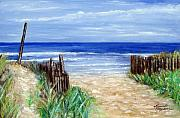 Sand Dunes Paintings - Long Beach Island Nj by Leonardo Ruggieri