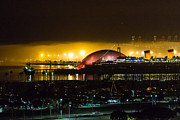 Spruce Goose Photos - Long Beach Queen Mary and Spruce Goose dome by Dina Calvarese