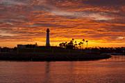 Long Beach Under Sunset Print by Lee Chon