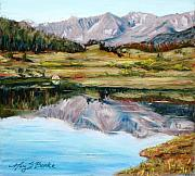 Lakes Pastels - Long Draw Reservoir by Mary Benke