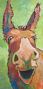 Donkey Painting Posters - Long Face Poster by Sandy Tracey