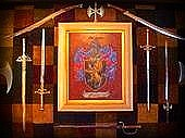 Family Coat Of Arms Art - Long Family Crest and Coat of Arms  by Nancy Rutland
