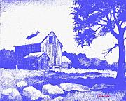 Barns Mixed Media Acrylic Prints - Long Forgotten Acrylic Print by Donn Kay