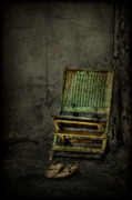 Chair Photo Metal Prints - Long Is the Time. Hard Is the Road. Metal Print by Evelina Kremsdorf