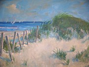 Hamptons Painting Prints - Long Island Dunes Print by Bart DeCeglie