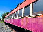Old Caboose Photos - Long Lines by Michelle Milano