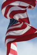 Stars And Stripes Photo Posters - Long May She Wave Poster by Lauri Novak