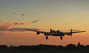 Lancaster Bomber Prints - Long Night Ahead Print by Pat Speirs