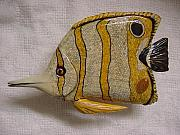 Aquatic Life Reliefs - Long Nose Butterfly Fish-SOLD by Lisa Ruggiero