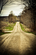 Gravel Road Photos - Long Road by BandC  Photography