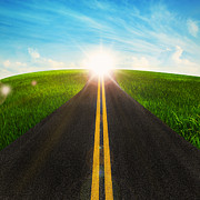 Sunny Digital Art - Long Road In Beautiful Nature  by Setsiri Silapasuwanchai