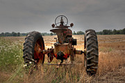 Plowing Framed Prints - Long row to hoe...with my Farmall Framed Print by David Bearden