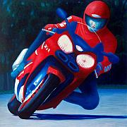 Riding Originals - Long Shadows - Kawasaki ZX6 by Brian  Commerford