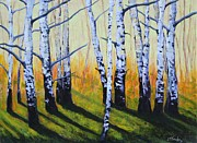 Joe  Triano - Long Shadows White Birch