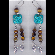 Organic Jewelry - Long-stemmed roses by Allie Hafez