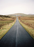 Argyll Posters - Long Straight Road Surrounded By Peaty Fields Poster by Photographed by Victoria Phipps ©