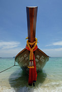 Phuket Prints - Long Tail Boat Thailand Print by Bob Christopher