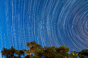 Startrails Photo Acrylic Prints - Long Trails Acrylic Print by Niko Monkkonen