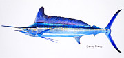 Dolphin Art Paintings - Longbill spearfish by Carey Chen