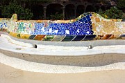 Travel Photography Originals - Longest bench in the World by Sophie Vigneault