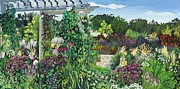 Longfellow Paintings - Longfelllow Gardens by Christina Plichta
