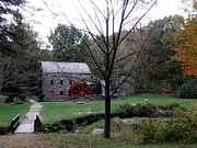Longfellow Prints - Longfellow Grist Mill x20 Print by Kim Galluzzo Wozniak