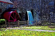 Longfellow Prints - Longfellows Wayside Gristmill Painting 2 Print by Earl Jackson