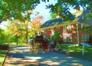 Horse Buggy Posters - Longfellows Wayside Inn Poster by Barbara McDevitt