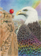 Grand Canyon Drawings - Longing to Soar by Bon Vernarelli