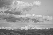 Colorado Landscape Photography Posters - Longs Peak and Mt Meeker Black and White Poster by James Bo Insogna