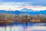 Longs Peak And Mt Meeker Sunrise At Golden Ponds Print by James Bo Insogna