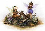 Fairies Art - Look mama a Ladybug by Marissa Oosterlee