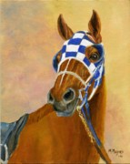 Secretariat Paintings - Look of Eagles- Secretariat by Mary Mapes