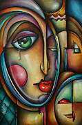 Symbols Paintings - Look two by Michael Lang