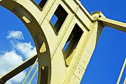 Bridge Prints - Look Up Pittsburgh PA Print by Kristen Vota