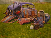 Terry Perham Art - Look What They Done To My Car Ma by Terry Perham