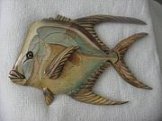 Aquatic Life Reliefs - Lookdown Number Eight-SOLD by Lisa Ruggiero