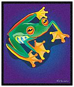 Amphibians Digital Art Metal Prints - Lookin at you Metal Print by Nick Gustafson