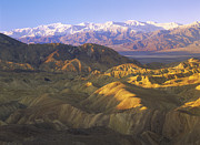 Snow-covered Landscape Posters - Looking At Panamint Range Poster by Tim Fitzharris