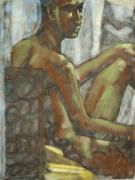 Nude Couple Pastels - Looking beyond by Jeffrey Morin