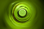Wine Bottle Art Posters - Looking deep into the bottle Poster by Frank Tschakert