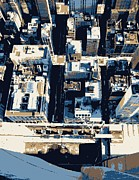 The New York New York Digital Art - Looking Down Color 6 by Scott Kelley
