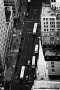 5th Ave. Prints - Looking Down On 5th Avenue New York City Print by Joe Fox