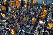 Midtown Photo Prints - Looking Down on Midtown Manhattan Print by Randy Aveille