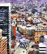 Businesses Prints - Looking East in Baltimore Print by Susan Isakson