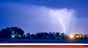 Monsoon Posters - Looking East Lightning Strike Poster by James Bo Insogna