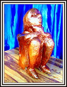 Plaster Of Paris Sculpture Prints - Looking For A Daily Wage Print by Anand Swaroop Manchiraju