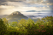 Looking Glass Sunrise - Blue Ridge Parkway Landscape Print by Dave Allen