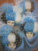 Costumes Framed Prints Paintings - Looking impassively by Elena Simonenko
